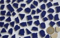 Bruchmosaik 1-3cm frostsicher Keramik dunkelblau 100g ca. 45 St.