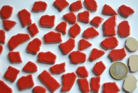 Bruchmosaik 1-3cm frostsicher Keramik rot 100g ca. 45 St.