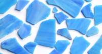 Tiffany Glas blau marmoriert 200g Glasstücke ca. 20-30St.