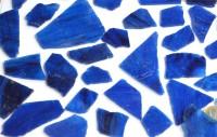 Tiffany Glas dunkelblau transparent 200g, ca. 20-30St.
