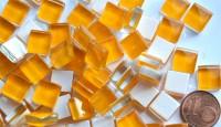 Mosaiksteine (Soft-Glas) orange 1x1 cm 220 St.- ca. 180g.
