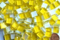 Mosaiksteine (Soft-Glas) gelb 1x1 cm 220 St.- ca. 180g.