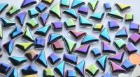 Glas Mosaiksteine unregelmäßig in Spektralfarben 100g, ca.50 St.