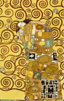 bemalte Wandfliesen 125x80 cm Klimt: die Umarmung