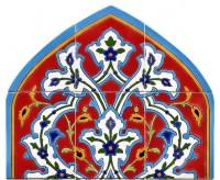 Orientalische Fliesen 100x60 cm Taghi-rot-ranke