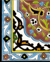 Orientalische Wandfliesen 50x80 cmGhalyklein-rot