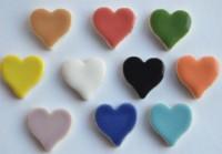 Keramik Mosaiksteine Herz 16-19 mm bunt 10 St.- 20g.