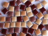 Mosaiksteine Mixbraun keramik 1x1cm 120 St.- 130 g.