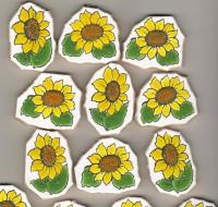 Bruchmosaik Sonnenblume 1 Stück- ca. 30 g.