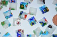 Schmuck Mosaik bunt 1x1cm Nr.1, 5 St.- ca. 3g
