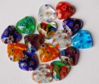 Schmuck Mosaik Herz ohne Loch 1cm Nr.2, 15 St.- ca. 6 g