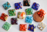 Schmuck Mosaiksteine bunt 1x1cm ohne loch Nr.2, 5 St.- ca. 3g