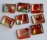 Edel Glasmosaik Mix-lachs mit Muster 10x12mm 8 St.- ca. 7g