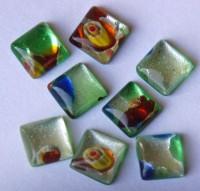 Mosaik Ideen Edel-Mixgrün 1x1 cm Nr.13, 8 St.- ca. 5g