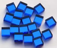 Spiegelmosaik dunkelblau 1x1cm Stärke 4mm 100 St.- ca. 85g.