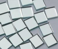 Spiegelmosaik silber 15x15mm 45 St.- ca. 92g.