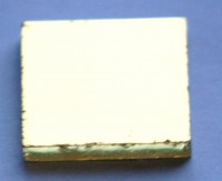 Goldmosaik glatt 25x25mm 1 St.- ca. 6g.
