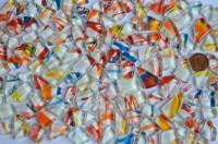Glasmosaiksteine softglas unregel. Muster N780, 100g ca. 60St.