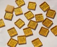 Glitzer Mosaiksteine gelbgold 2x2cm 40 St.- ca. 140g