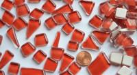 Glas Mosaiksteine unregelm. (Soft-Glas) rot 200g ca.130-150St.