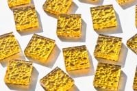 Glas Mosaiksteine N2 gelbgold 2x2cm 40 St.- ca. 125g