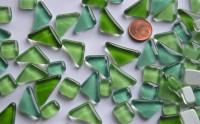 Glas Mosaiksteine unregelmäßig Grünmix 200g ca.130-150St.