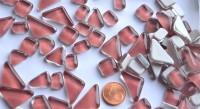Glas Mosaiksteine unregelmäßig hellrosa 200g ca.130-150St.