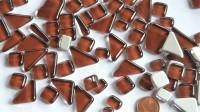 Glas Mosaiksteine unregelmäßig braunviolett 200g ca.130-150St.