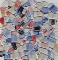 Glas Mosaiksteine unregelm. Muster Nr.900, 100g ca. 60St.