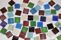 Mosaiksteine mit Flimmer (Goldline) bunt 2x2cm 50 St.- ca. 145g