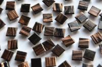 Mini Mosaik mit Flimmer schwarz 1x1 cm 300 St.- ca.204g