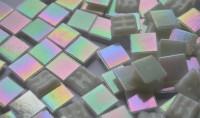 Glasmosaiksteine schimmernd weiß 1,5x1,5cm 100 St.- ca. 145g