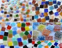 Mosaiksteine 15x15mm Bunt aus 5 Artikeln 500 St. ca. 760g.
