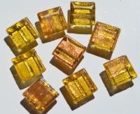 Mini Mosaik mit Flimmer gelb 1x1 cm 300 St.- ca.204g