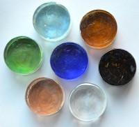 Deko Mosaiksteine irisierend rund 2cm Buntmix 7 St.- ca. 37g